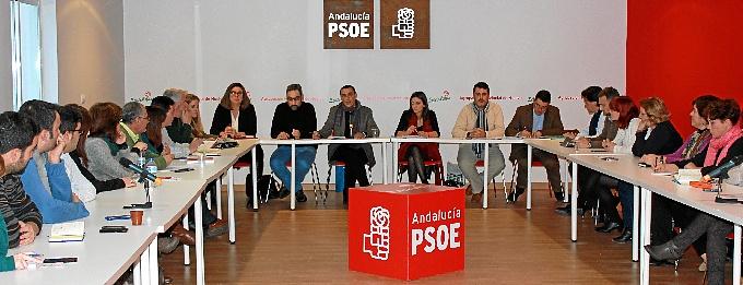 Reunión de la ejecutiva provincial del PSOE de cara a las elecciones europeas.