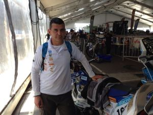 Luis Calderay en Rosarrio, salida del Dakar 2014.