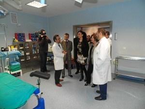 Visita de la consejera al hospital Vázquez Díaz.