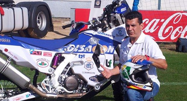 Luis Calderay, piloto del Dakar 2014