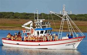 Los Reyes Magos llegan a Punta Umbría, en una imagen del pasado año.