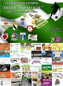 Cartel del Torneo de fútbol alevín e infantil en Gibraleón.
