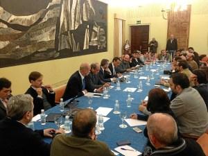 Imagen de archivo de una reunión de la plataforma.