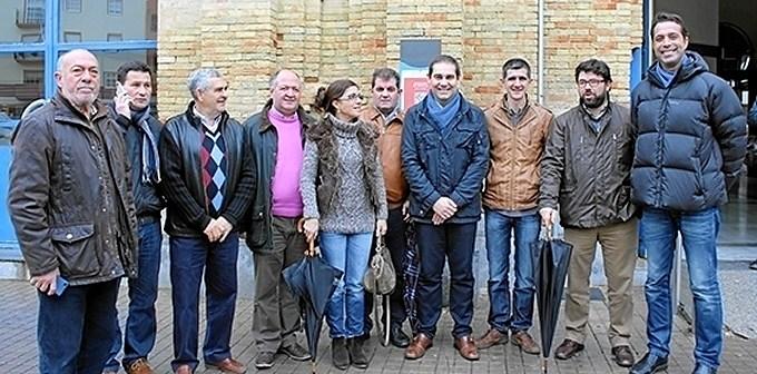 alcaldes y concejales protestan por la Huelva-Zafra-PSOE-52