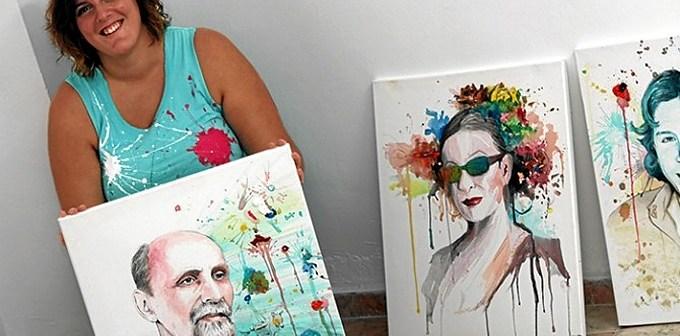 paywoken con el retrato realizado a juan ramon