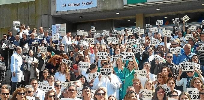 Imagen de archivo de una protesta contra la fusión.