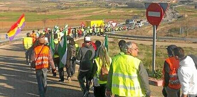 Columna andaluza de las Marchas de la Dignidad