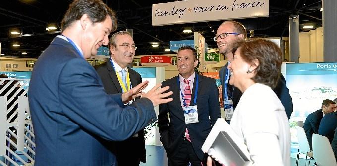 Seatrade Cruise Shipping Miami Puerto Huelva14 con Presidente Puertos Estado