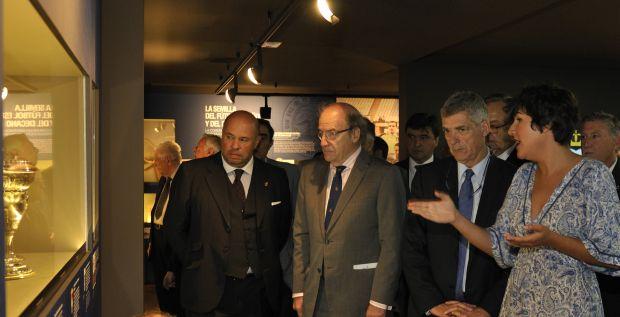 Inauguración del nuevo museo del Recreativo de Huelva.