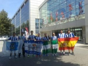 Equipo del Recreativo IES La Orden en el Campeonato de Europa.