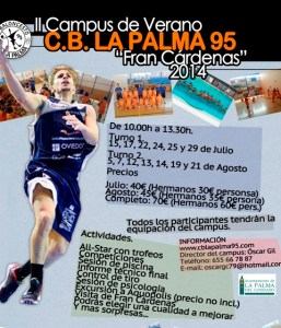 Cartel II Campus de verano CB La Palma 95 Fran Cardenas