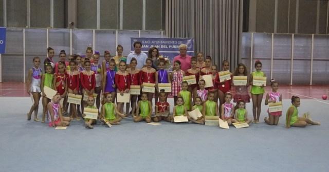 Escuela de gimnasia rítmica de San Juan del Puerto.