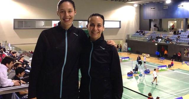 Laura Molina y Haideé Ojeda, en el Campeonato del Mundo universitario.