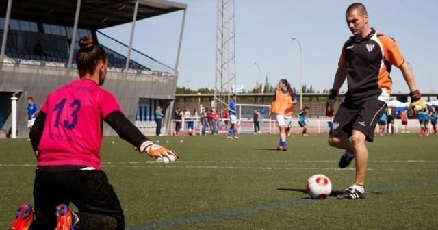 Dani Cadena, entrenador de porteras del Fundación Cajasol Sporting.