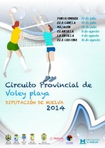 Cartel del Circuito Provincial de voley playa.