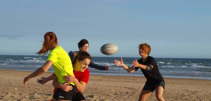 Recreativo Bifesa Tartessos femenino de rugby playa.