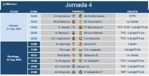 Jornada 4 de liga en Segunda división.