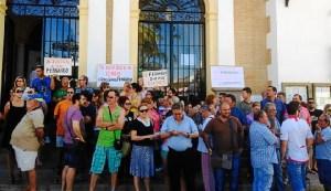 Protesta Valverde despido trabajador servicio limpieza-32