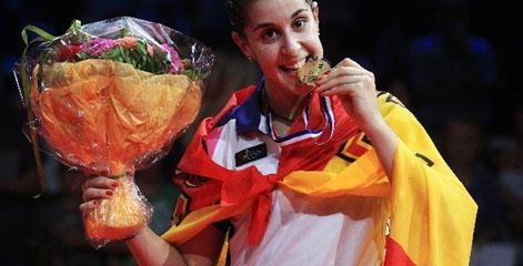 Carolina Marín, campeona del mundo de bádminton.