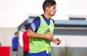 Caye Quintana, jugador del Recreativo de Huelva.