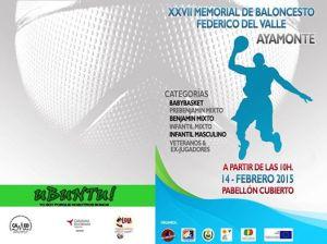 Cartel del Memorial de baloncesto Federico del Valle en Ayamonte.