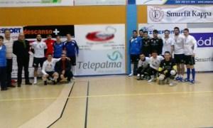 Convenio del CD La Palma de fútbol sala con Telepalma y Sprinter.