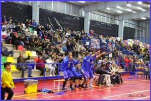 Jugadores del CB San Juan celebrando la victoria.