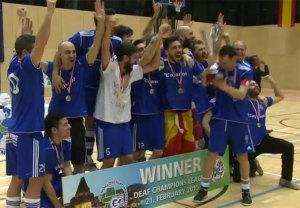 CD Sordos de Huelva, campeón de Europa de fútbol sala.
