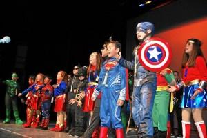 Una de agrupaciones Infantiles de la Escuela Municipal de Carnaval
