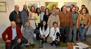 Foto de familia. el autor y los pintores