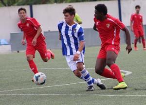 Manu Ramírez, juvenil del Recreativo de Huelva.