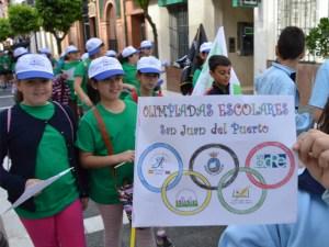 Olimpiadas Escolares en San Juan del Puerto.