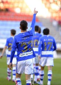 Caye Quintana celebrando el gol de la victoria en Soria.