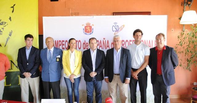 Presentación del Campeonato de España de golf.