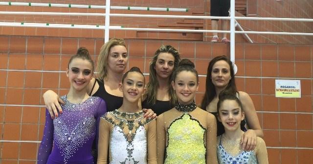 Equipo del Rítmico Colombino en el Campeonato de Andalucía.