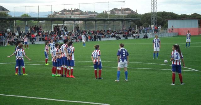 Partido entre el Atlético de Madrid y el Fundación Cajasol Sporting.