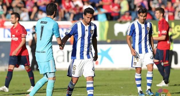 Descenso del Recreativo de Huelva ante Osasuna.
