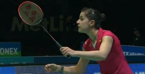 Carolina Marín, en el Open de Australia.