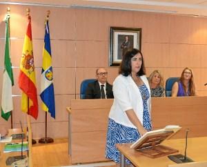 Yolanda Rubio contó con el apoyo de los ediles de 'Si se puede Aljaraque' para ser elegida alcaldesa, aunque le hubiera valido solo con su abstención.