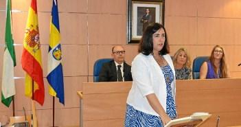 Yolanda Rubio el día en el que tomó posesión como alcaldesa.