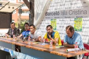 Presentación del II Torneo de fútbol en Isla Cristina.