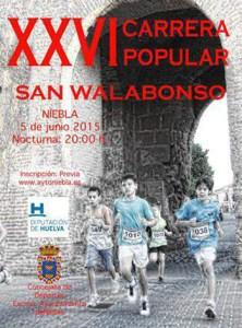 Cartel de la XXVI Carrera Popular San Walabonso de Niebla.