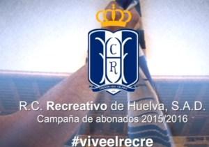Cartel de la campaña de abonos del Recreativo de Huelva 2015/16.