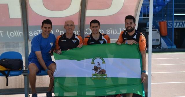 Cuerpo técnico del Fundación Cajasol Sporting.