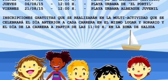 Cartel de las Carreras Playeras en Punta Umbría.