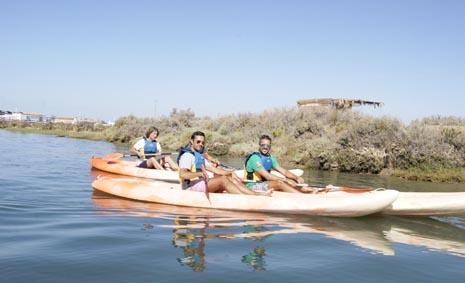 Rutas de piraguas y kayaks en Punta Umbría.
