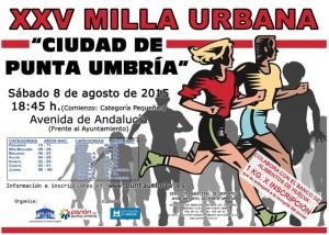 Cartel de la Milla Urbana de Punta Umbría.