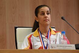 Carolina Marín, en el Consejo Superior de Deportes.