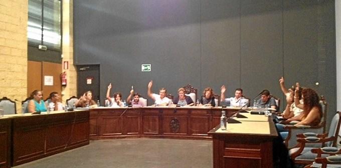 Los ediles votan la propuesta en el Pleno