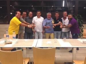 Comité organizador de los Juegos Europeos de Policías y Bomberos en la Gold Cup de Barcelona.
